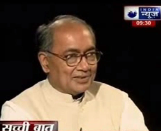 Digvijay Singh on the Television show Sacchi Baat with Prabhu Chawla | 2014-08-03