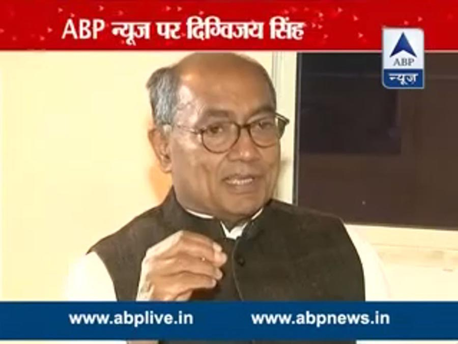 Digvijaya Singh in An exclusive interview to #ABP November 23, 2014 says lying capacity of Kejriwal is at par with that of Modi