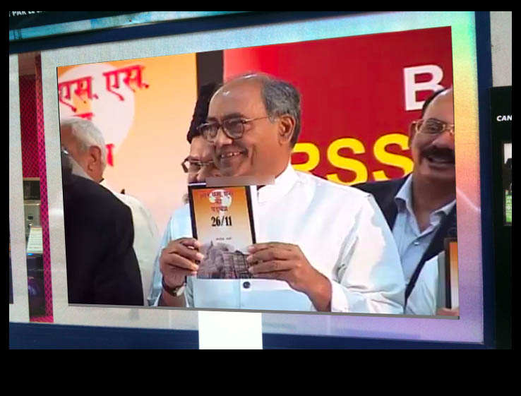 Digvijay Singh launches Hindi Version of Book - RSS Conspiracy 26/11