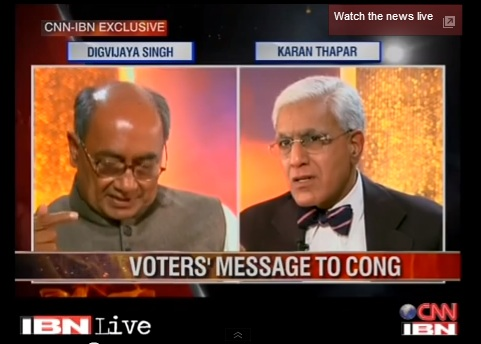Digvijaya Singh refuses to blame party Vice President Rahul Gandhi for the election debacle